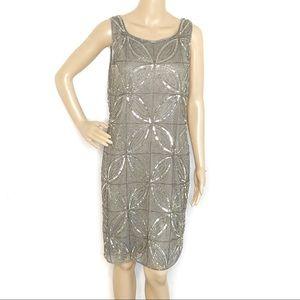Pisarro Nights Prelude Sleeveless Beaded Dress